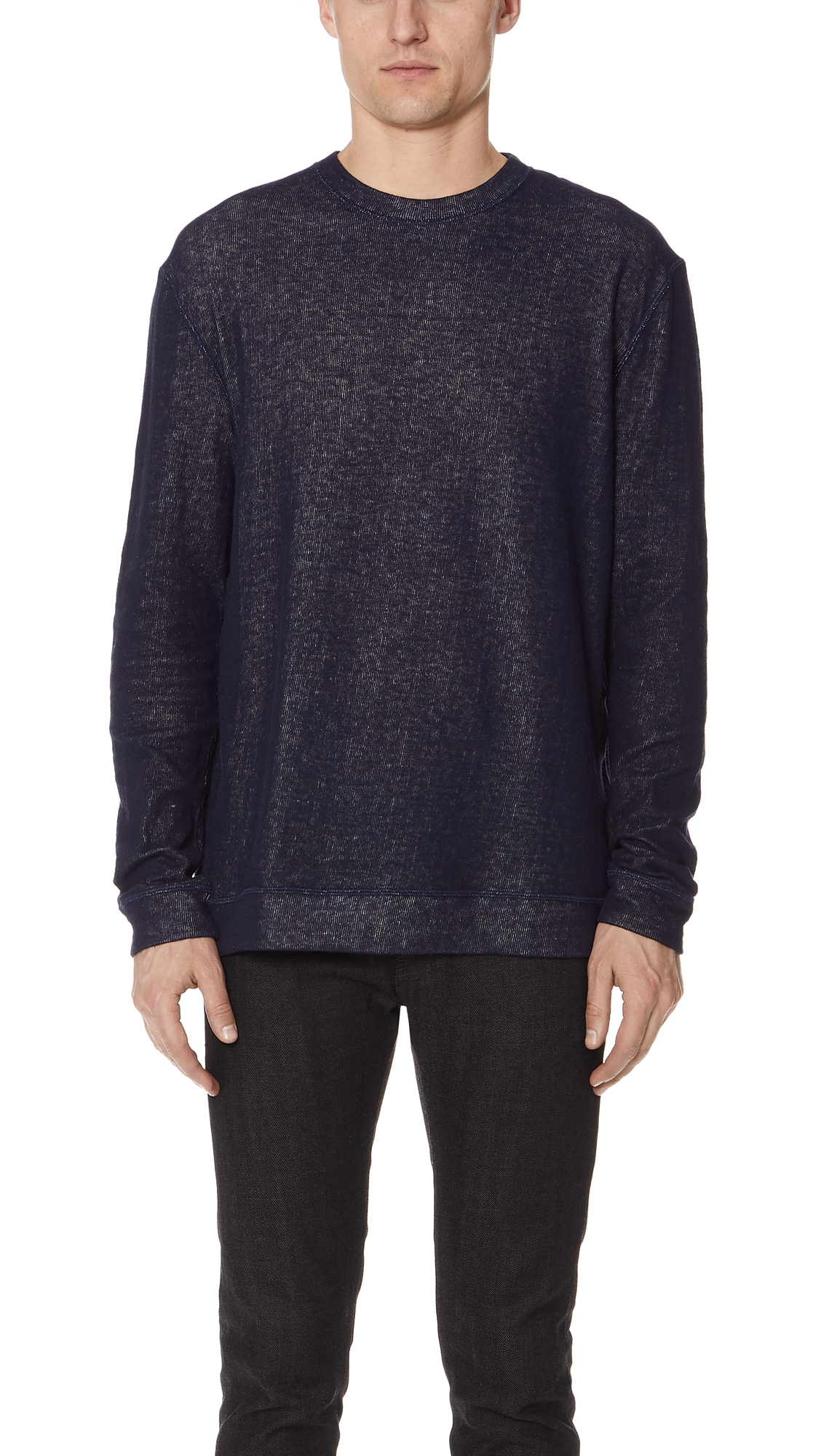 NAKED & FAMOUS SLIM DOUBLE FACED SWEATER