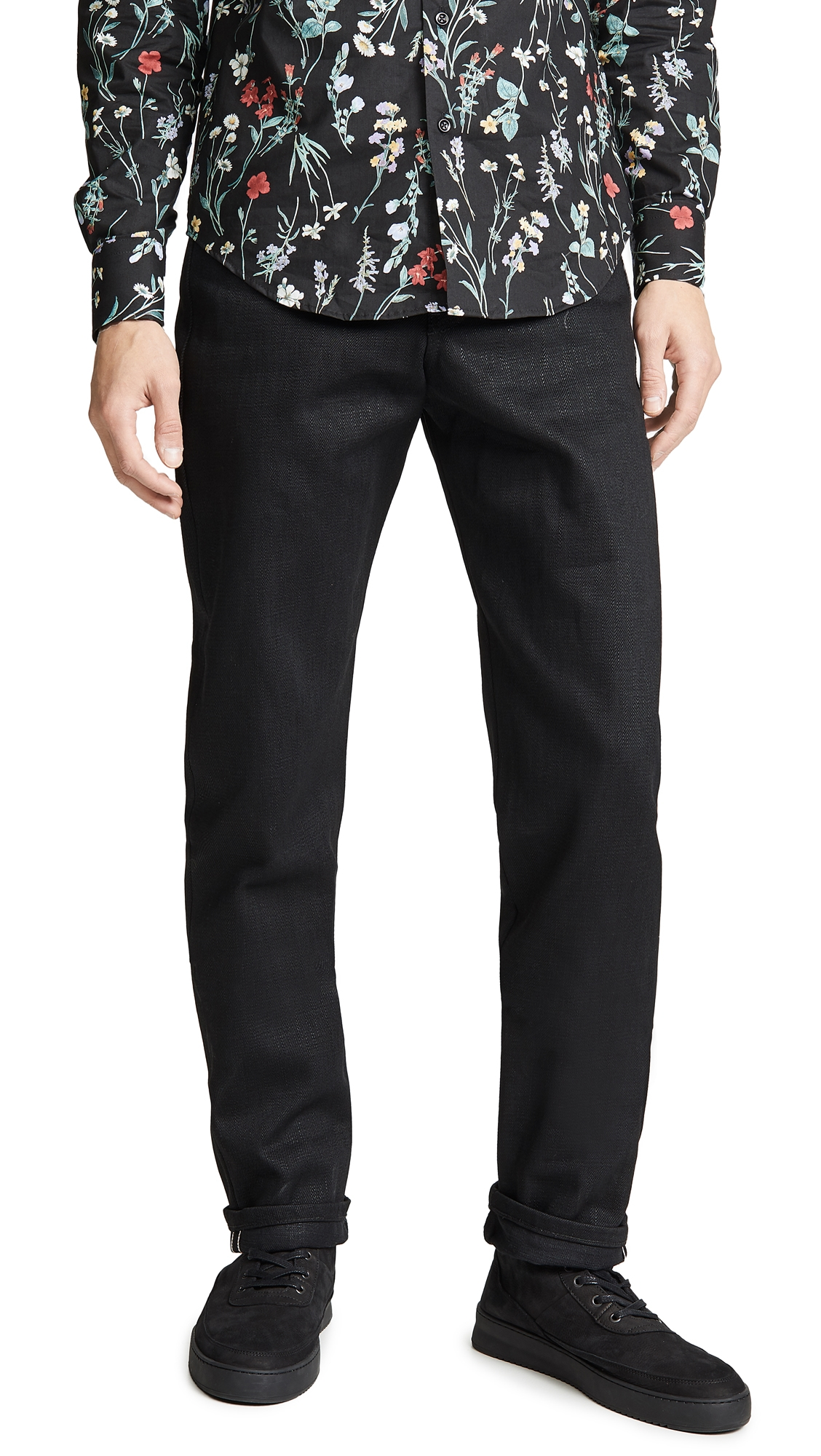 NAKED & FAMOUS Weird Guy Elephant 7 Jeans in Black