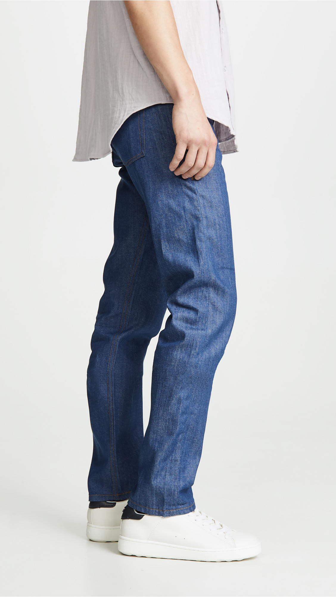 f72828747406 Naked   Famous Weird Guy - Clear Blue Selvedge Jeans