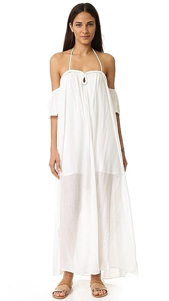 re:named Crinkle Curve Flutter Sleeve Maxi Dress