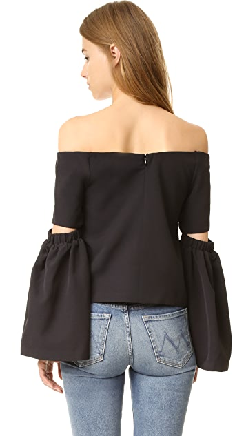 re:named Off Shoulder Cutout Sleeve Top