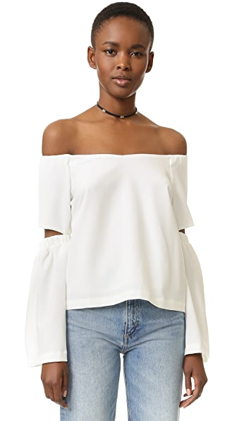 Image result for shopbop Off Shoulder Cutout Sleeve Top