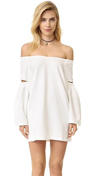 Re:Named Off Shoulder Dress - Off White
