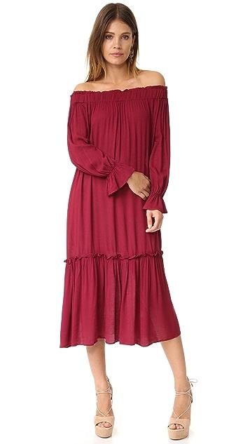 re:named Off Shoulder Midi Dress