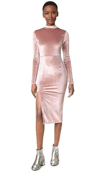 re:named Velvet Midi Dress with Slit