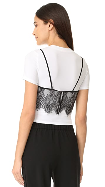 re:named Lace Cami Overlay Top