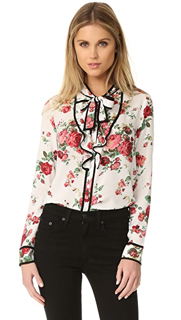 re:named Floral Neck Tie Blouse