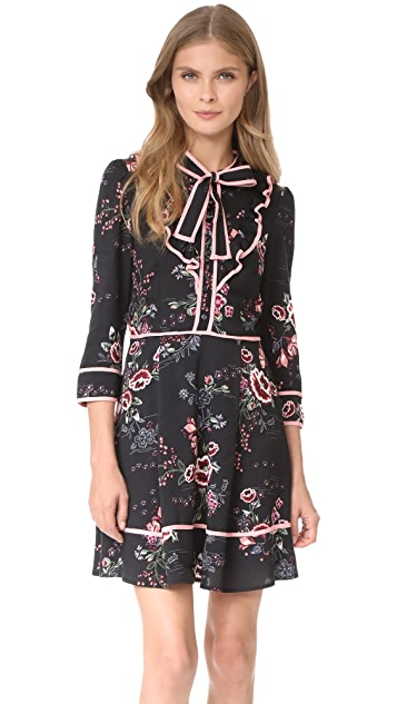 re:named Floral Tie Neck Dress