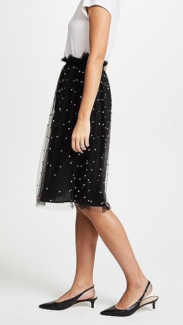 re:named Imitation Pearl Tutu Midi Skirt