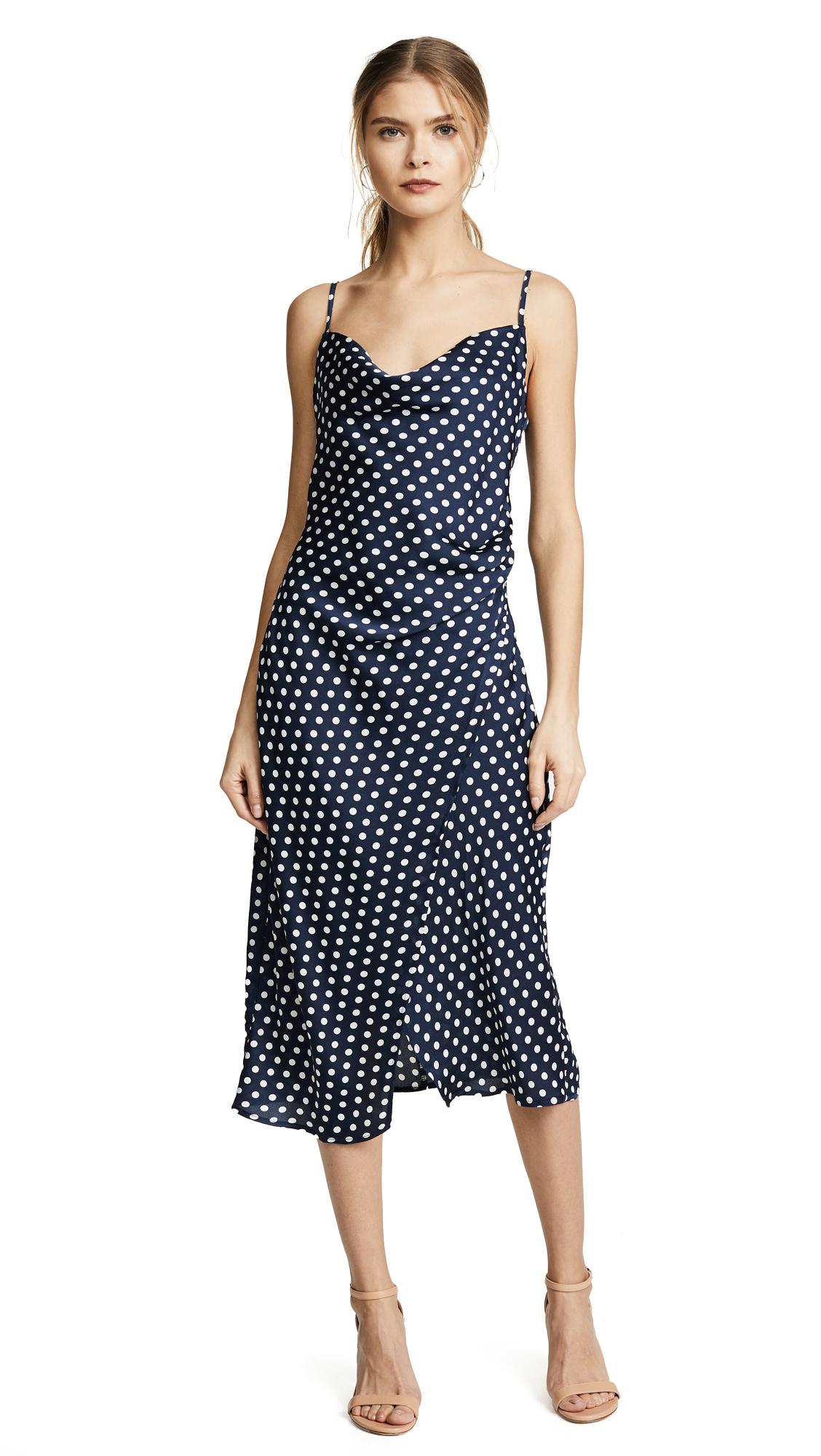 re: named Polka Dot Slip Dress - Navy/White