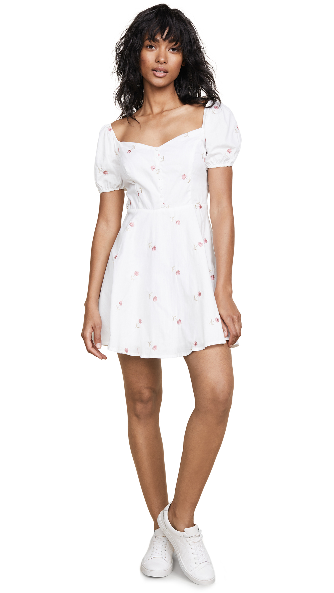 re: named Frill Embroidered Dress - White/Rose