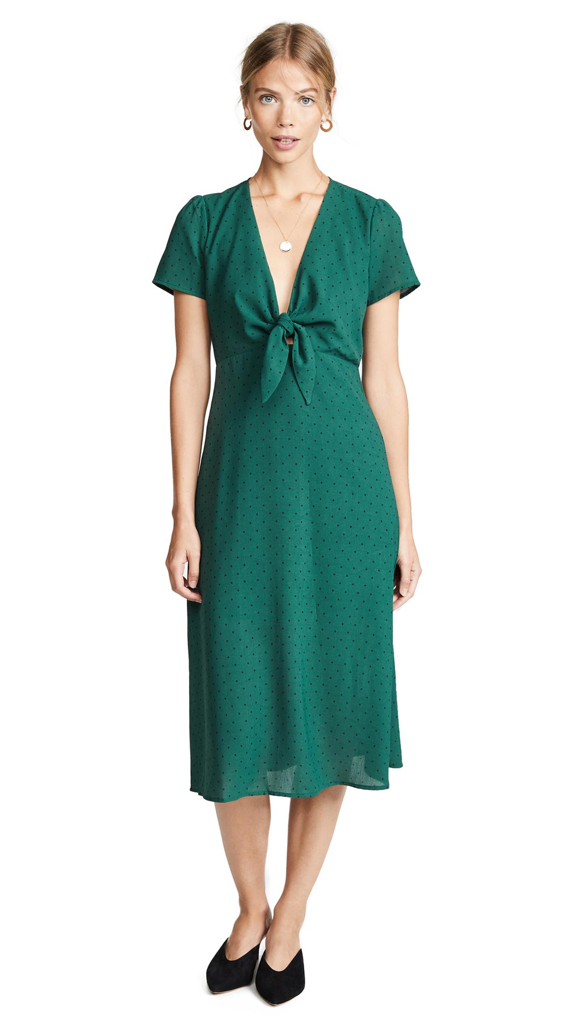 RE:NAMED Re: Named Polka Dot Dress in Hunter