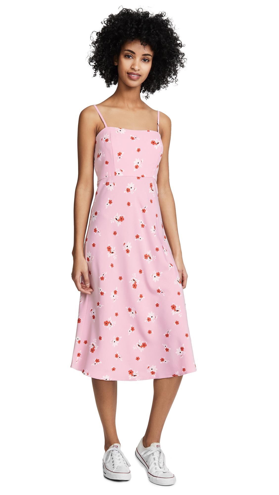 re: named Brenda Floral Midi Dress - Pink Multi