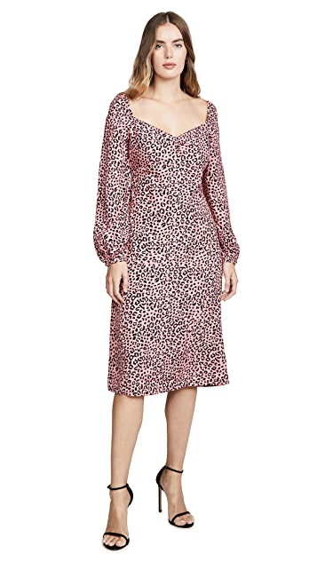 re: named Amanda Leopard Midi Dress