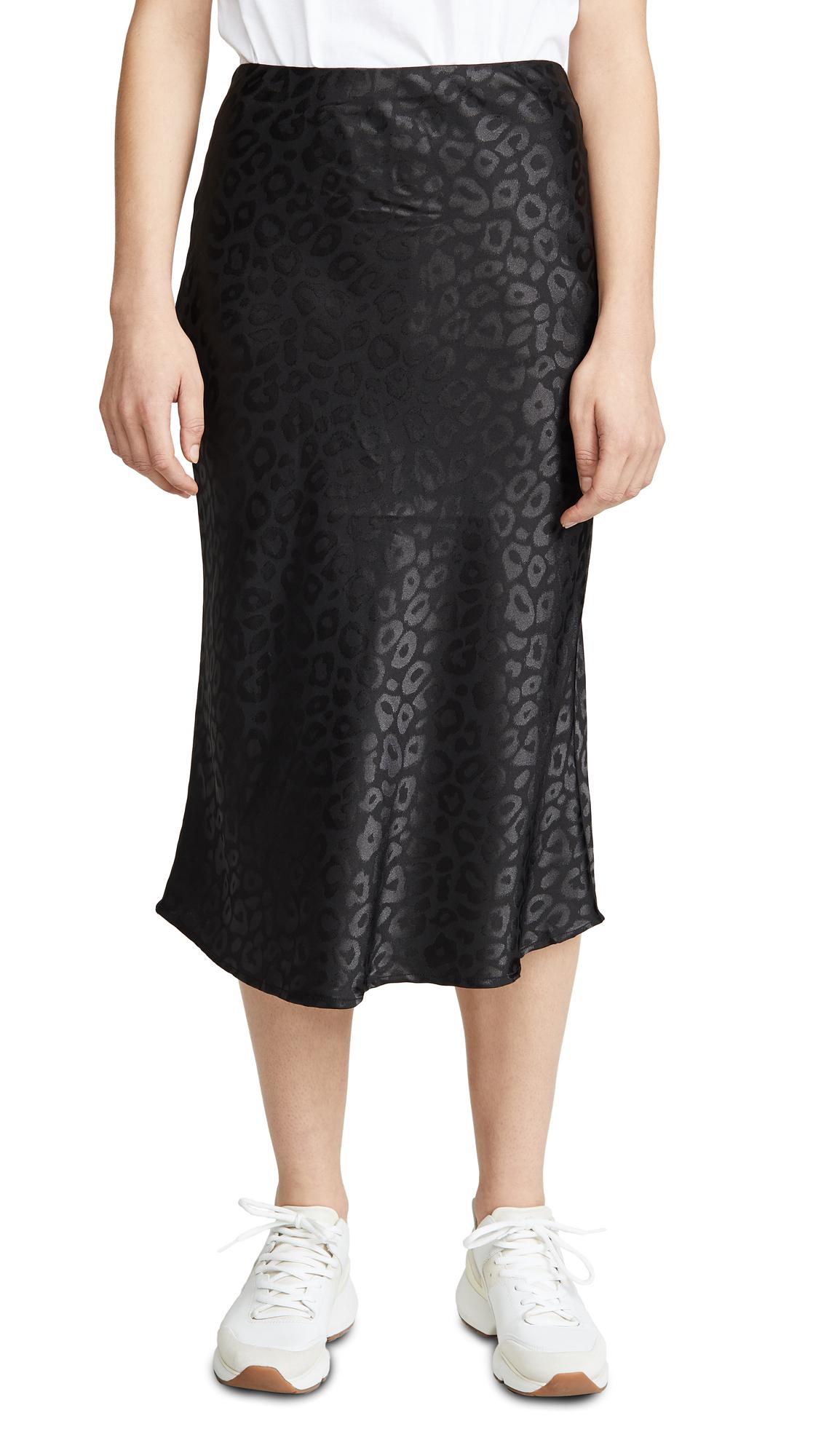 Buy re:named online - photo of re: named Leopard Jacquard Midi Skirt