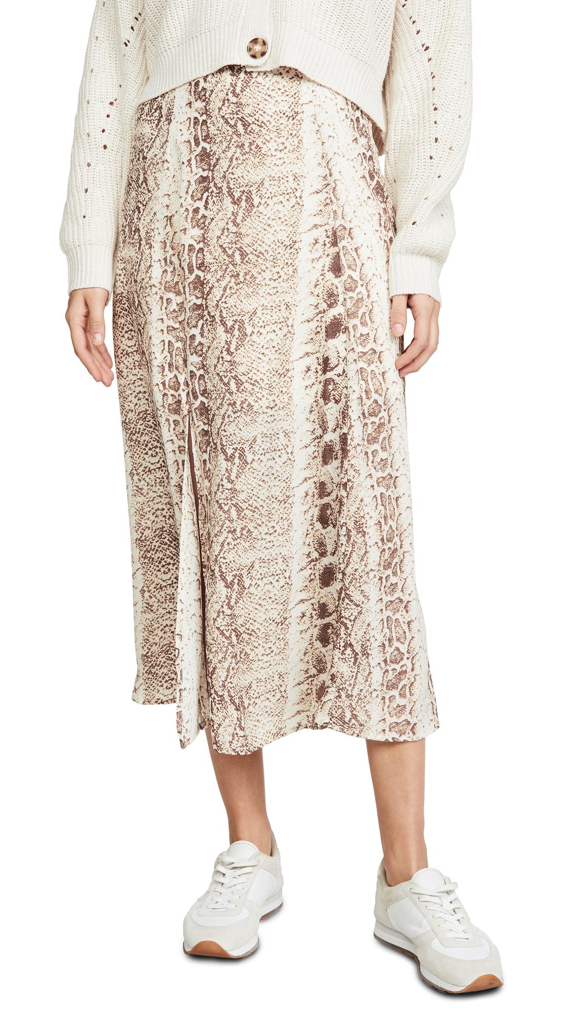 Buy re:named online - photo of re: named Ethan Snake Midi Skirt