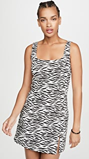 re:named Zebra Mini Dress
