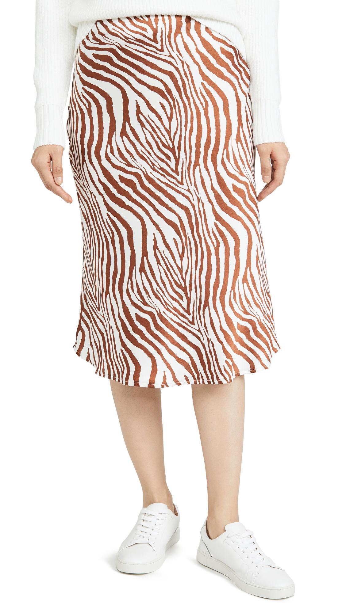 Buy re:named online - photo of re: named Wild Zebra Midi Skirt