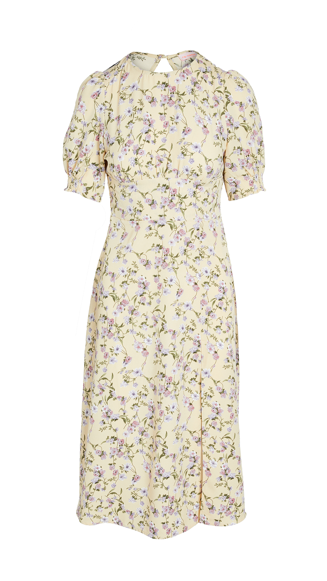 Re:named Re: Named Allete Floral Midi Dress In Yellow Multi