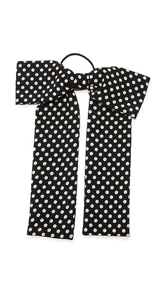 Namrata Joshipura Dots Bow Hair Tie - Black/White