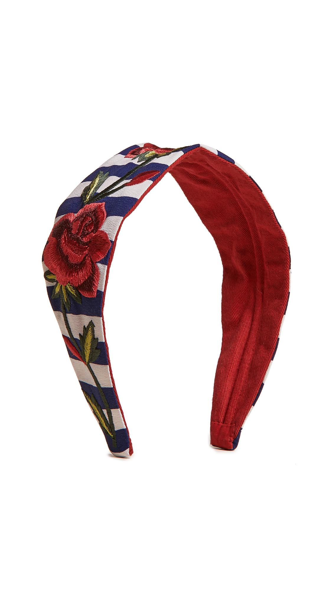 NAMJOSH Striped Rose Headband