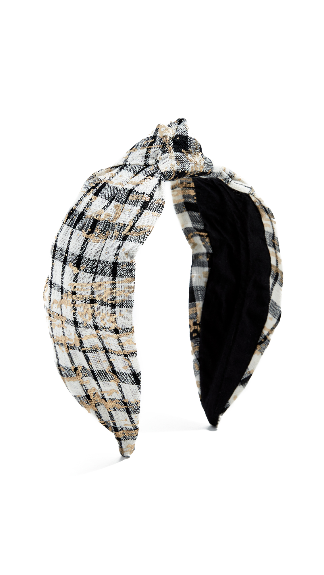 NAMJOSH Black & White Plaid Headband