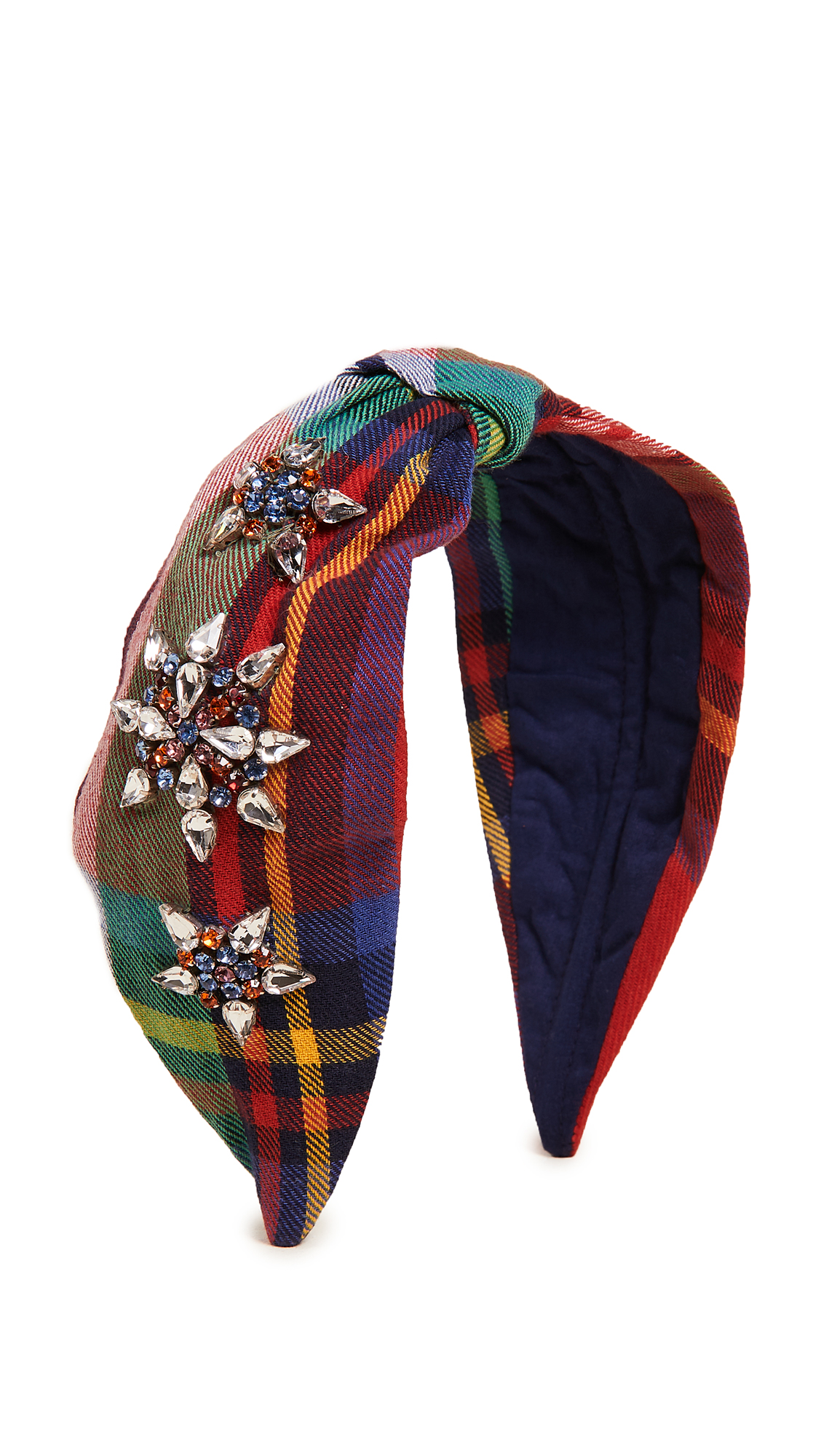NAMJOSH Rainbow Plaid Headband