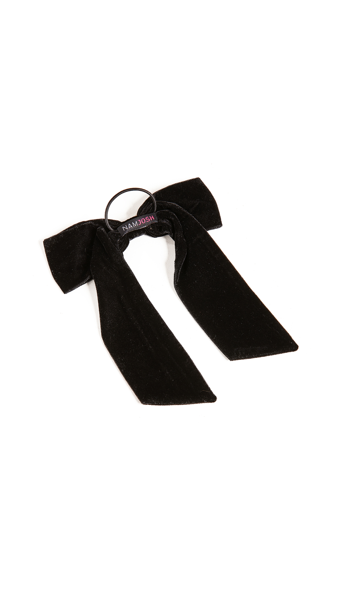 NAMJOSH Velvet Bow Pony Holder in Black