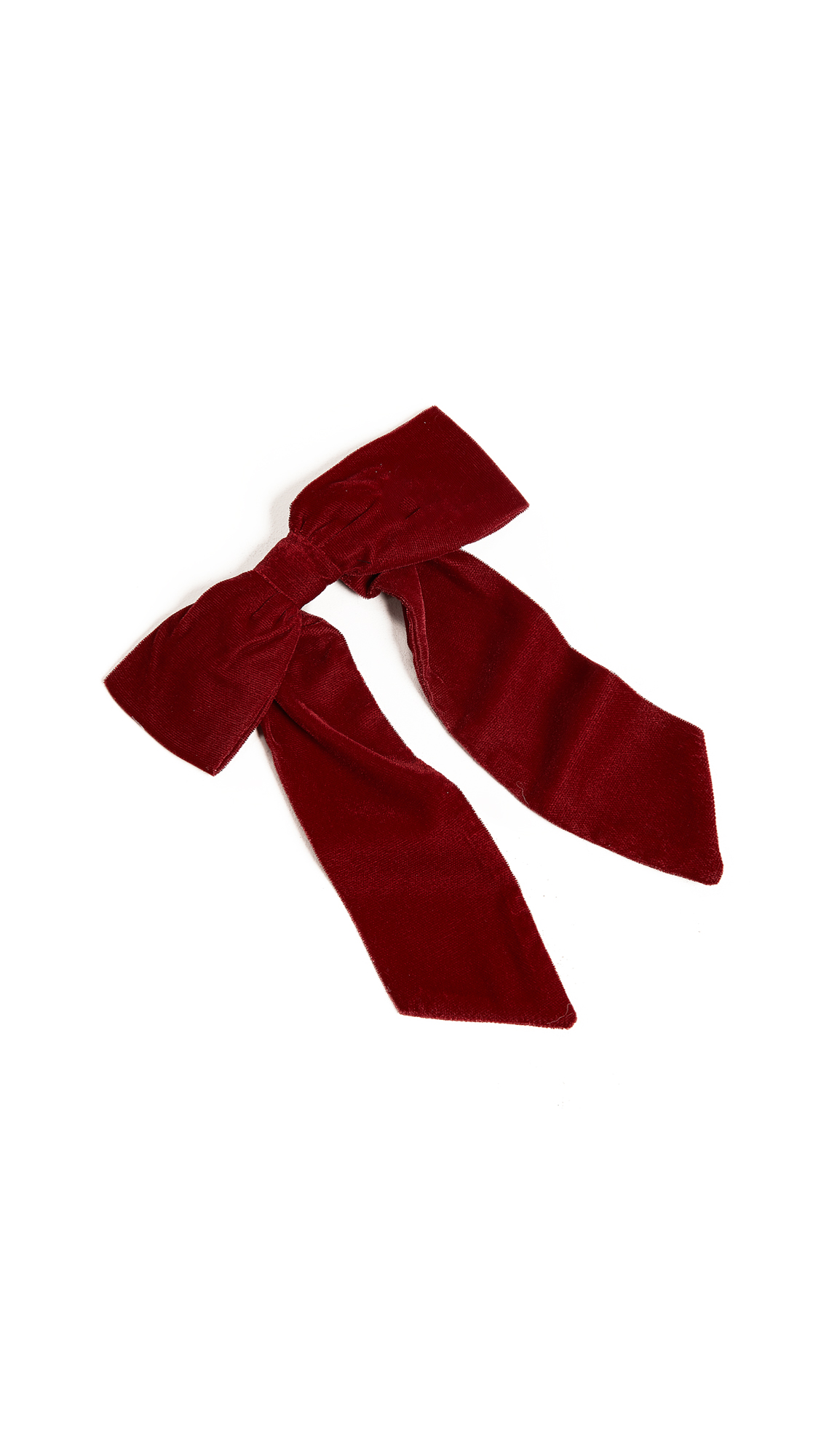 NAMJOSH Velvet Bow Pony Holder in Burgundy