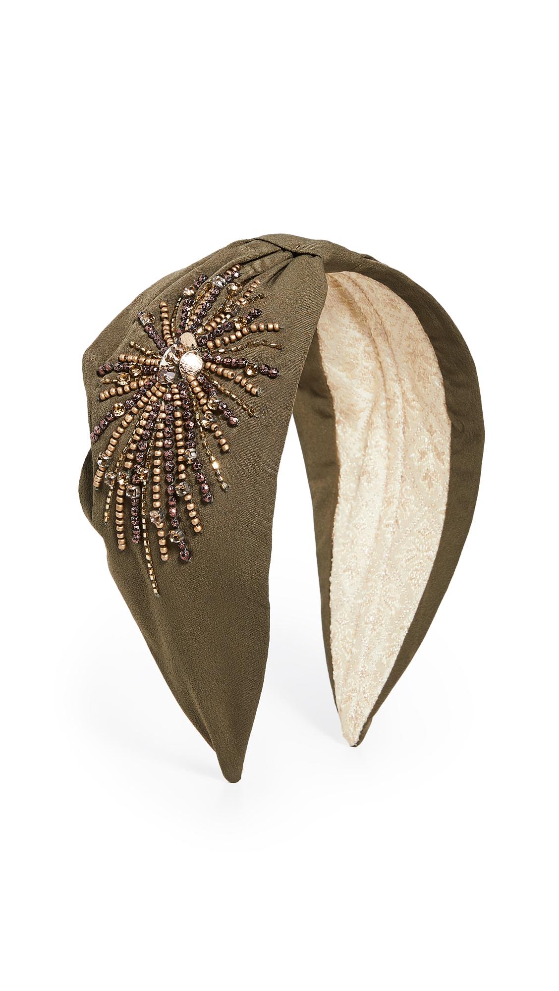 Namjosh Solid Starburst Headband In Olive