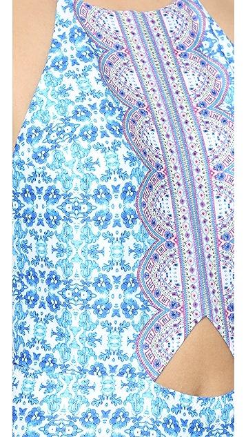 Nanette Lepore Seaside Tile Seductress One Piece