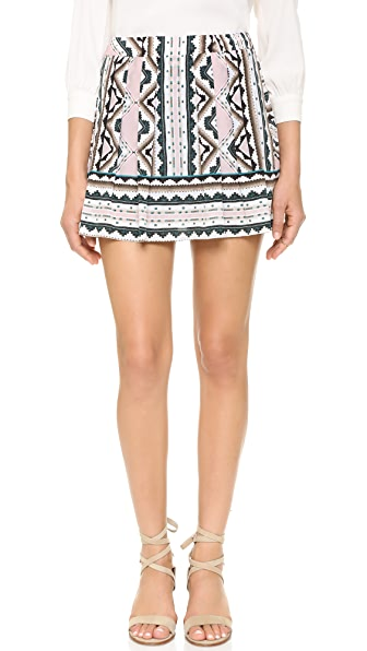 Nanette Lepore Sway With Me Skort - Natural Multi