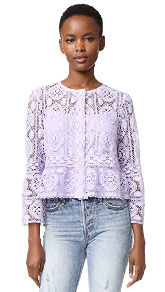 Nanette Lepore Lucky Lace Top - Lavender