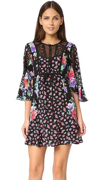 Nanette Lepore Wildflower Dress - Black Multi