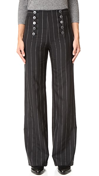 Nanette Lepore Painter Pin Stripe Pants