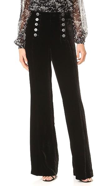 Nanette Lepore Velvet Sailor Pants