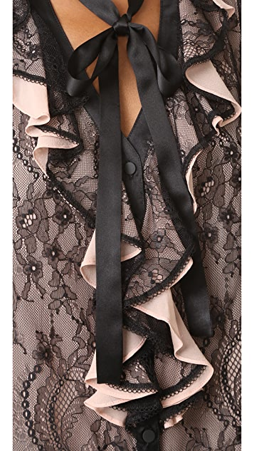 Nanette Lepore All or Nothing Tie Neck Blouse