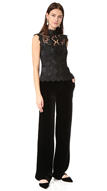 Nanette Lepore Lacey Crop Top