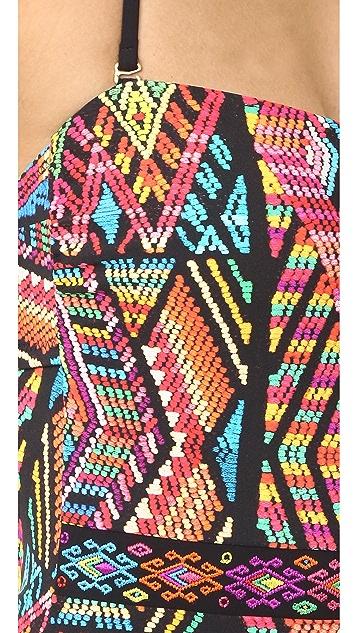 Nanette Lepore Mayan Mosaic Seductress One Piece