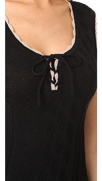Nanette Lepore Santa Maria Lace Up Dress