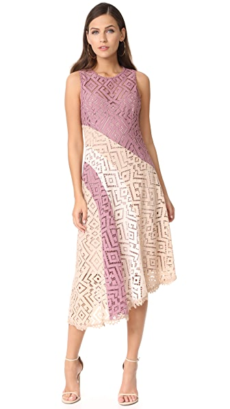 Nanette Lepore Meryl Lace Dress - Blush/Multi