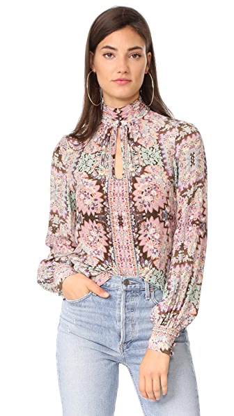 Nanette Lepore Mod Top - Thistle Multi