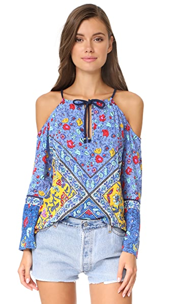 Nanette Lepore Woodstock Off Shoulder Tunic