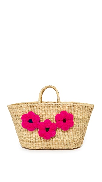 Nannacay Frida Tote - Off White/Pink
