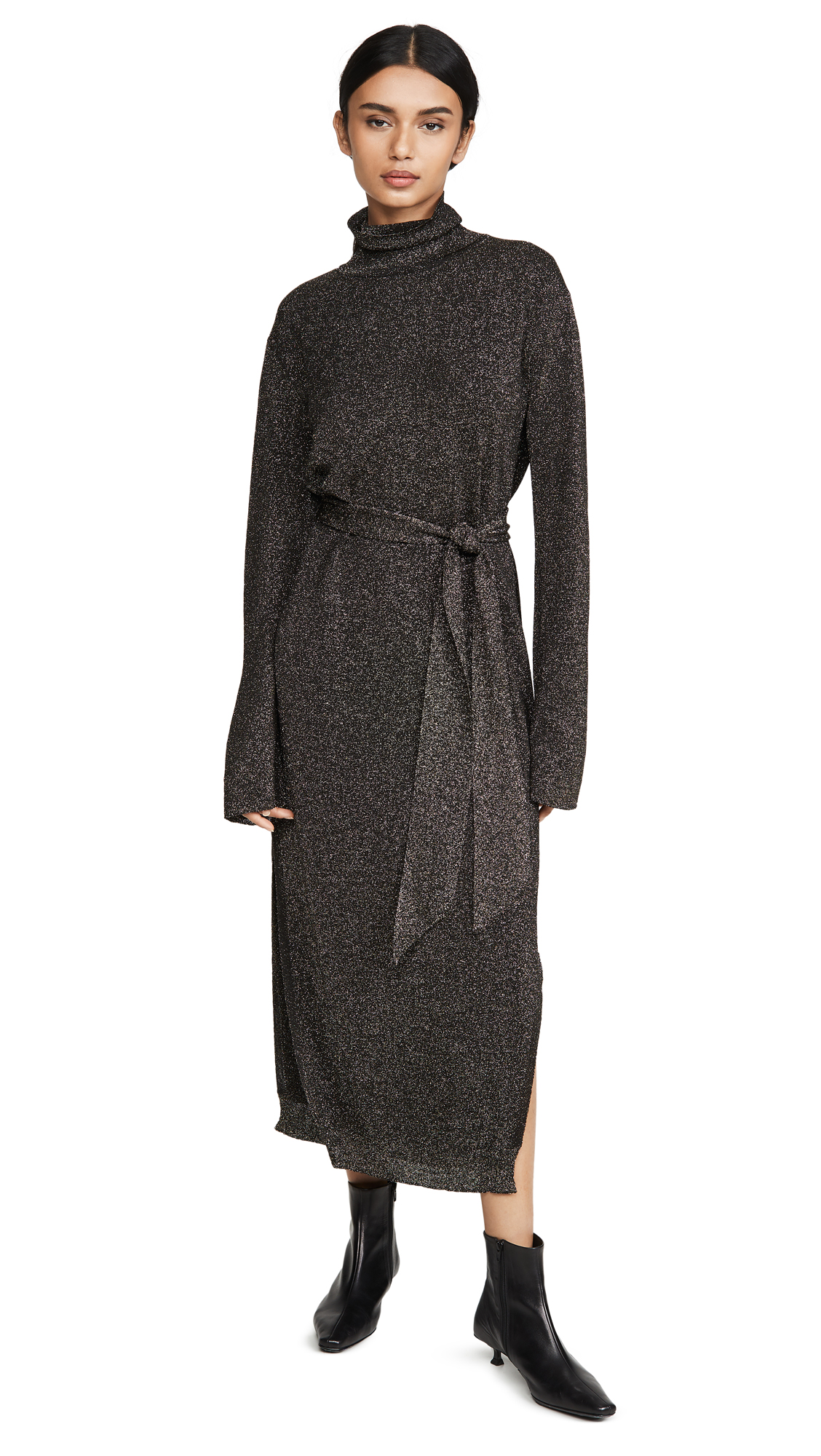 Nanushka Canaan Coat Metallic Dress – 60% Off Sale