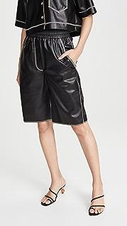 Nanushka Yolie Faux Leather Shorts