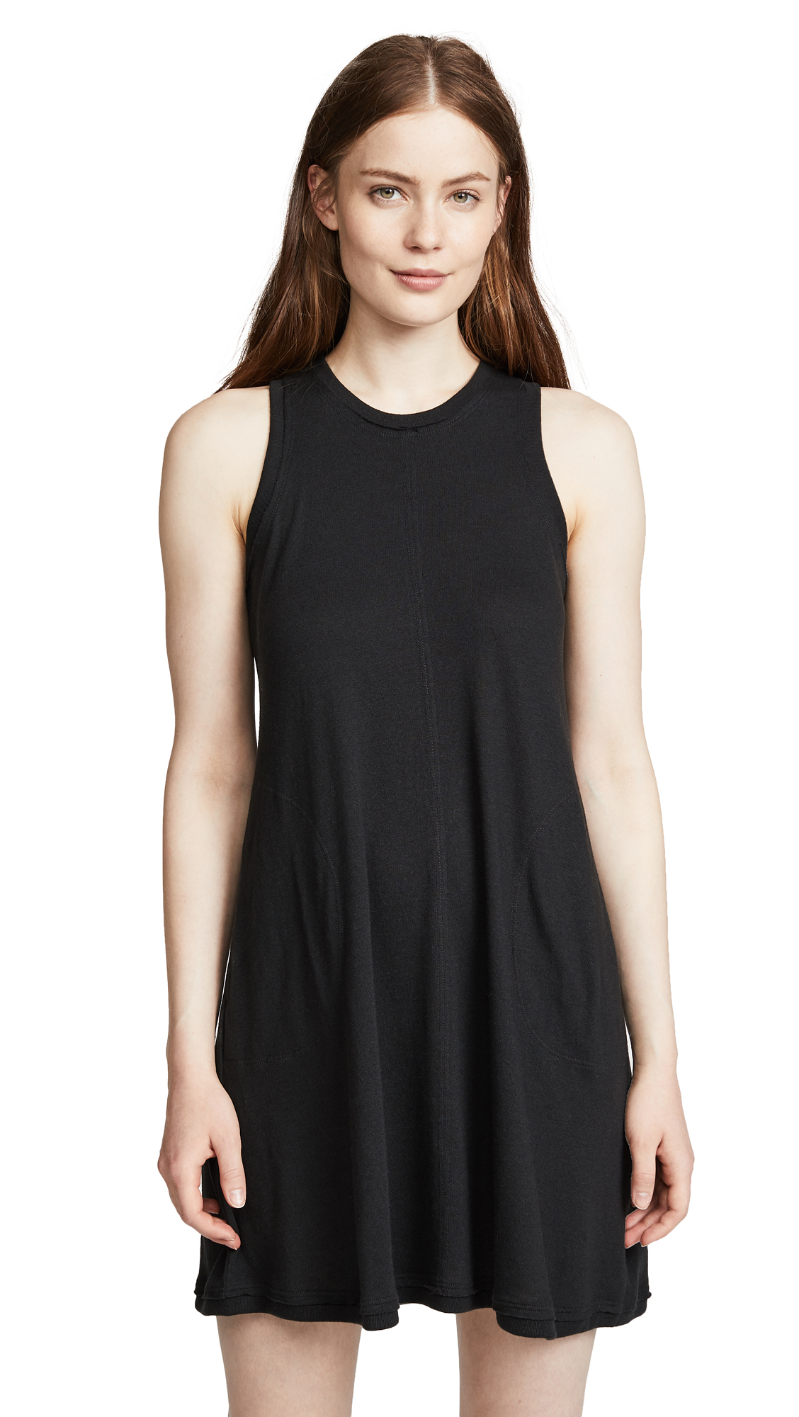 Nation LTD Phoebe A-Line Dress In Jet Black