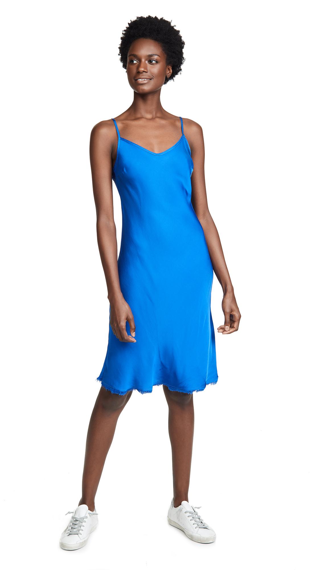 NATION LTD SOFIA BIAS CUT SLIP DRESS