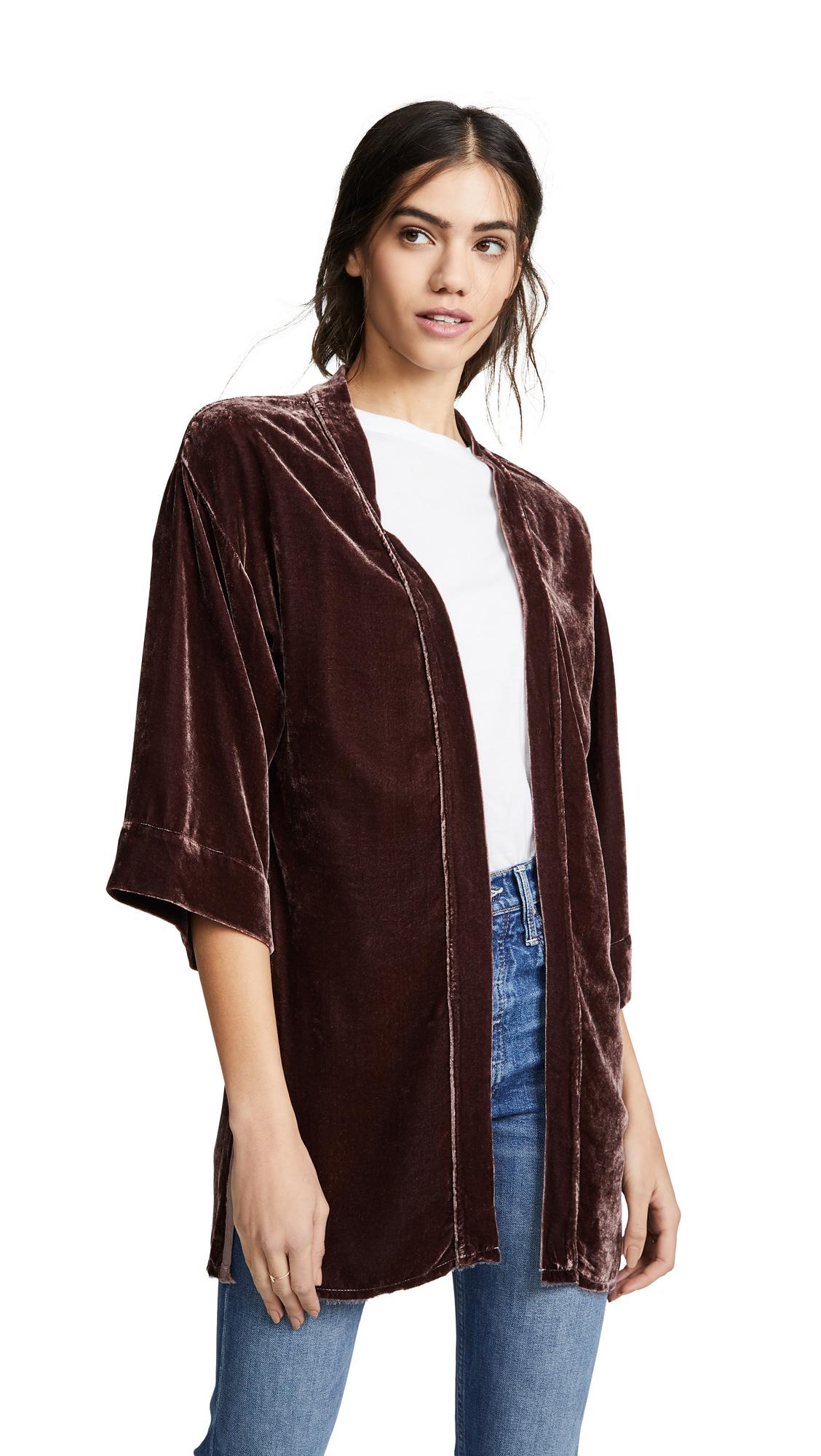 NATION LTD Winslow Velvet Bed Jacket in Concord