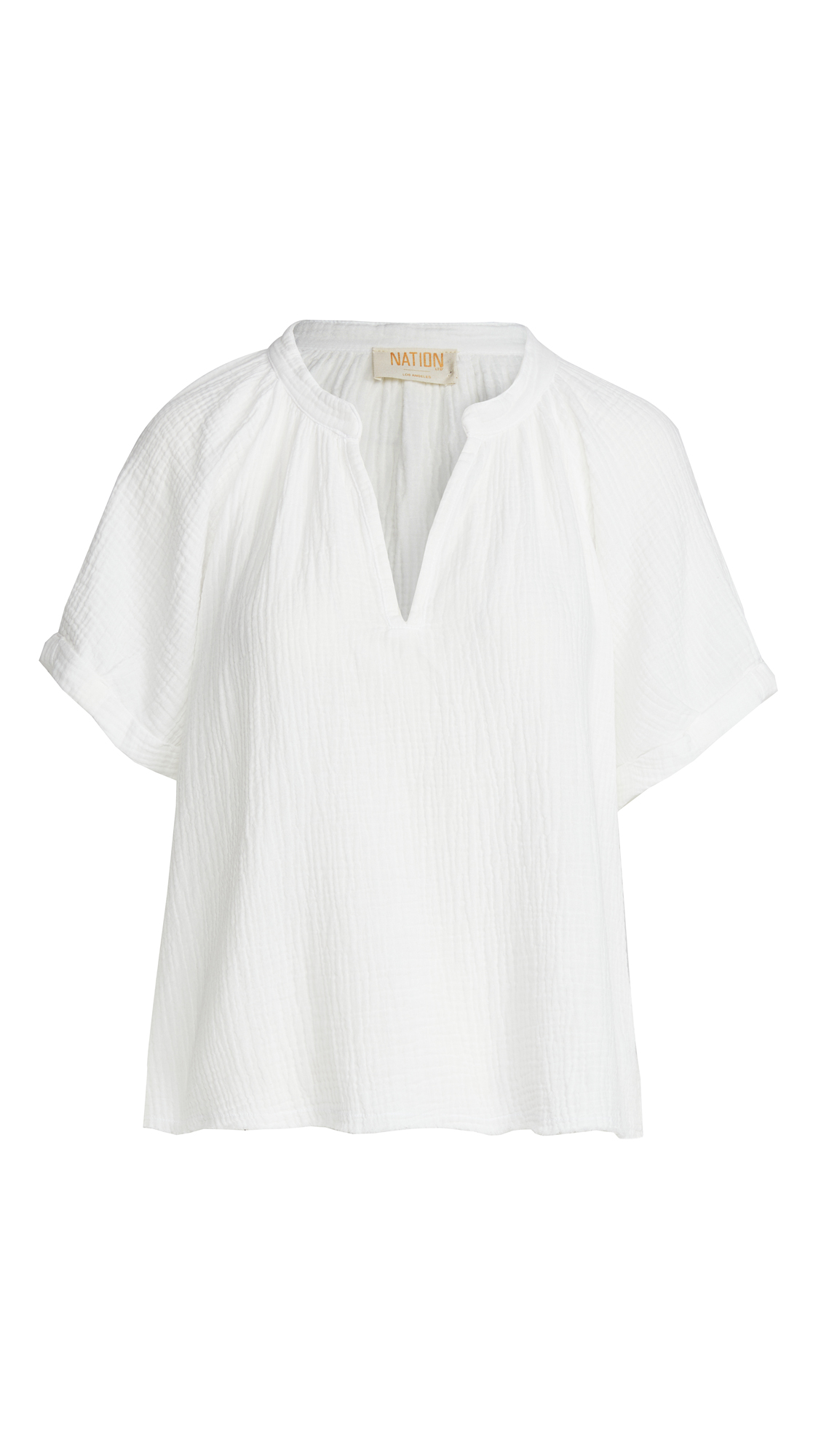Nation Ltd ODETTE GAUZE PEASANT TOP
